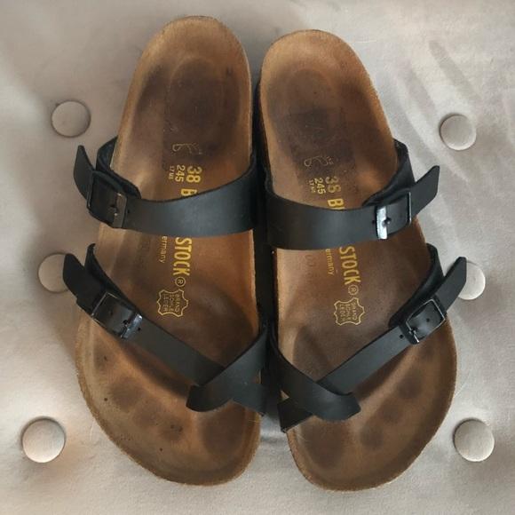 fbe086aff65 Birkenstock Shoes - Mayari oiled leather black Birkenstocks size 38